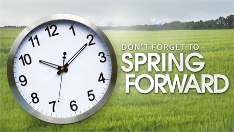 spring forward Spring Forward tonight at 2am!